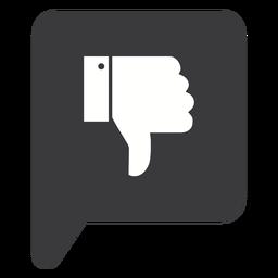 Hand dislike thumb silhouette