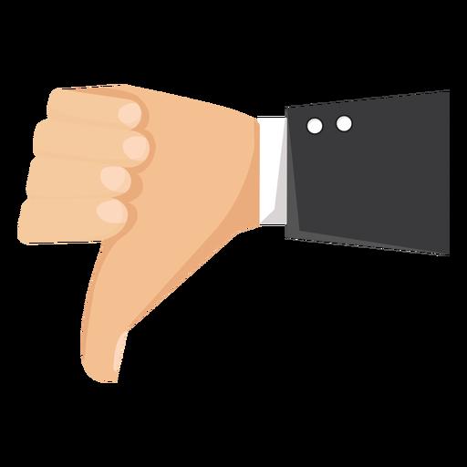 Mão, desagrado, polegar, manga, ilustração Transparent PNG