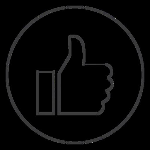 Hand wie ok Daumenzeichen Symbol Transparent PNG