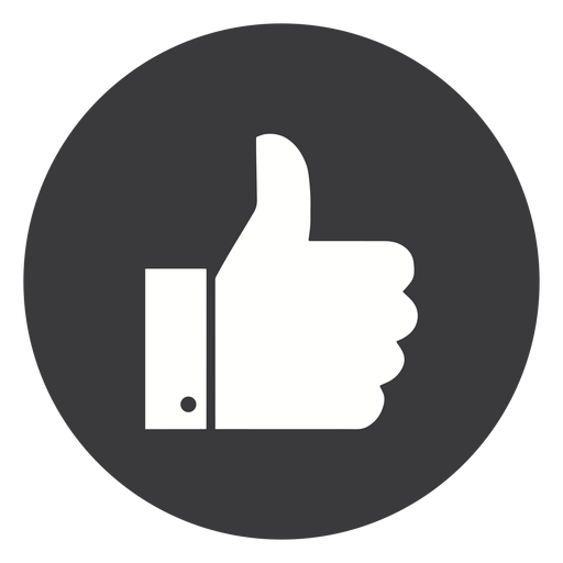 Hand ok like thumb cuff silhouette Transparent PNG