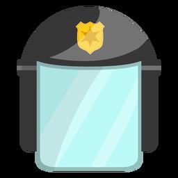 Ilustração de polícia de capacete