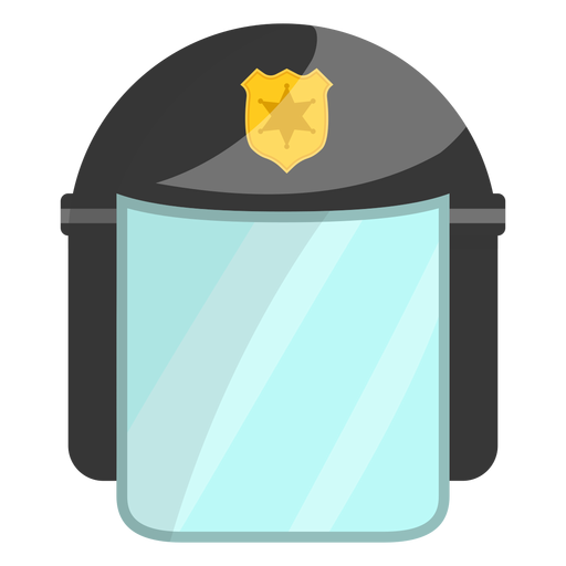 Helmet police illustration Transparent PNG