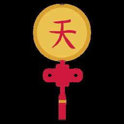 Decoração de hieróglifo plana