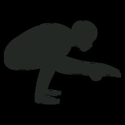 Silhueta de handstand humano