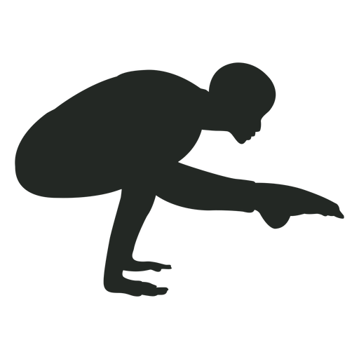 Human handstand silhouette