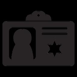 Silhueta de documento de identificação