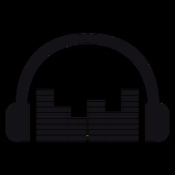 Silhueta de fones de ouvido de fones de ouvido ilustrada