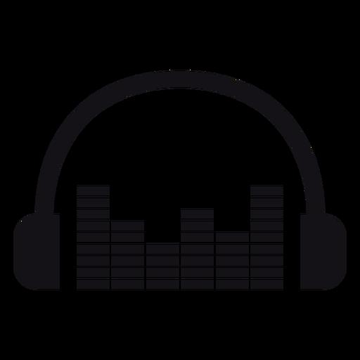 Illustrated earphones headphones silhouette Transparent PNG