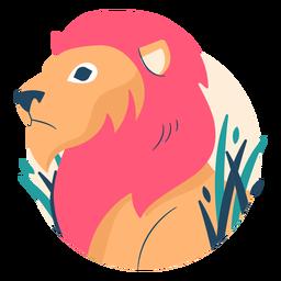 Leão ilustrado plano
