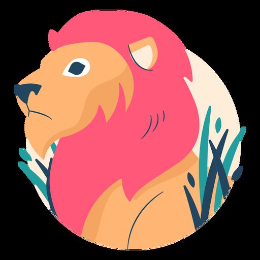 Illustrated lion flat