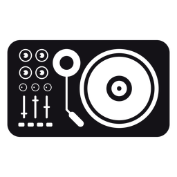 Mezclador ilustrado de silueta