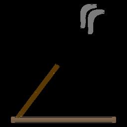 Ilustração de aroma de pau de incenso