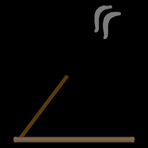 Incense stick aroma illustration