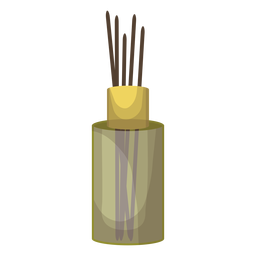 Ilustração de aroma de garrafa de pau de incenso
