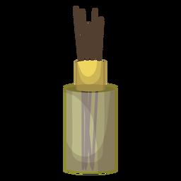 Ilustración de aroma de botella de palo de incienso
