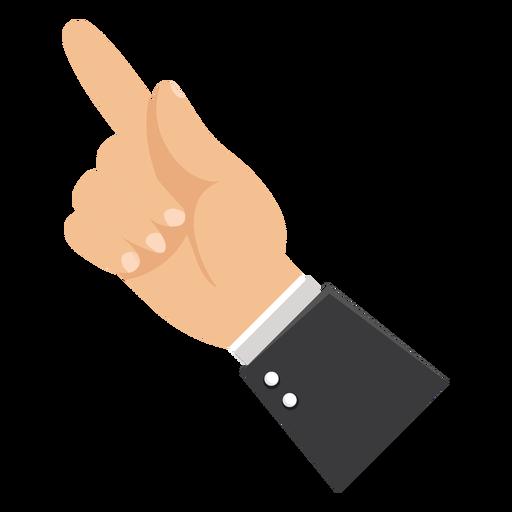 Zeigefingerhand-Ärmelillustration Transparent PNG