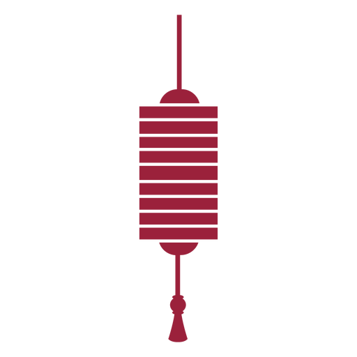 Lantern tassel silhouette Transparent PNG