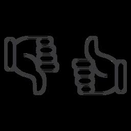 Like ok dislike thumb pair icon