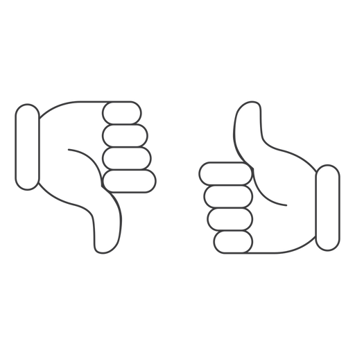 Like ok dislike thumb pair icon Transparent PNG