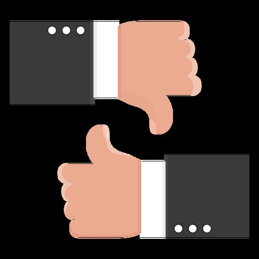 Like ok dislike thumb pair illustration Transparent PNG
