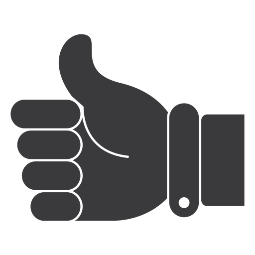 Like ok hand thumb silhouette Transparent PNG