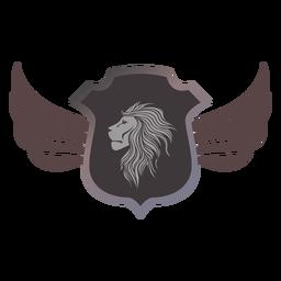 Logotipo de la insignia del león logotipo heráldica