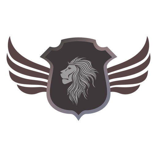 Lion emblem logo logotype heraldry Transparent PNG