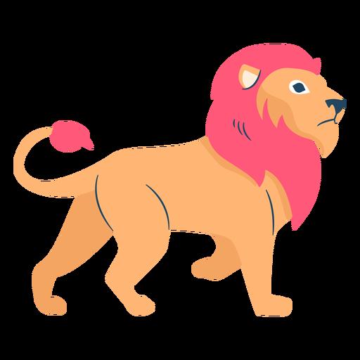Lion flat Transparent PNG
