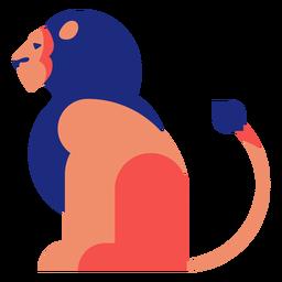 Lion flat geometric