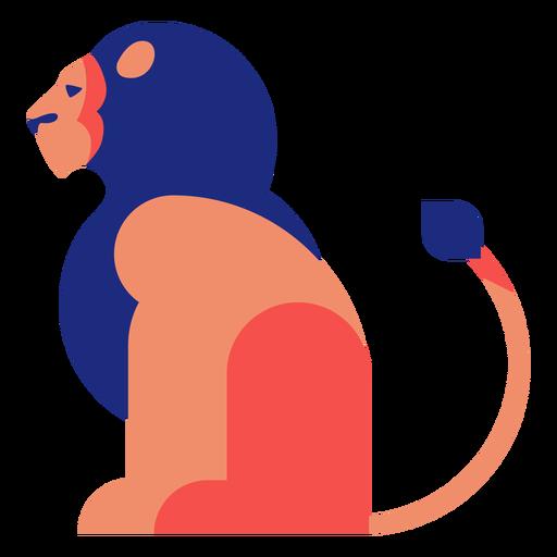 Lion flat geometric Transparent PNG