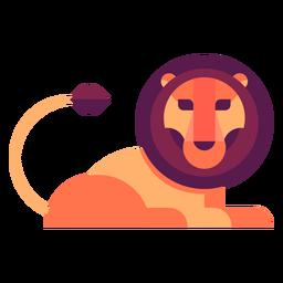 Ilustração plana de leão