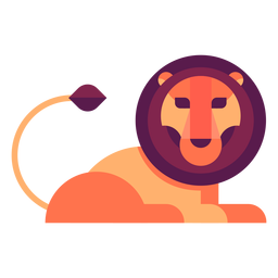 Lion flat illustration