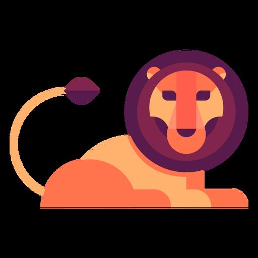 Lion flat illustration Transparent PNG