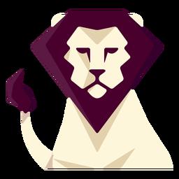 León geometrico plano
