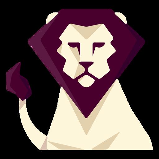 Leão geométrico plano Transparent PNG