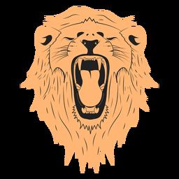 Diseño de ilustración de león