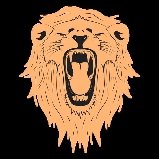 Desenho de ilustração de leão