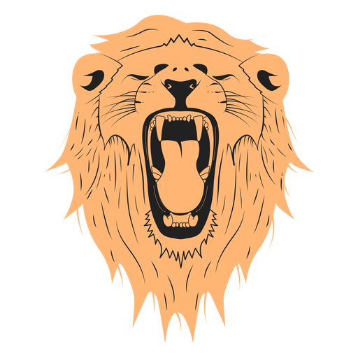 Diseño de ilustración de león Transparent PNG
