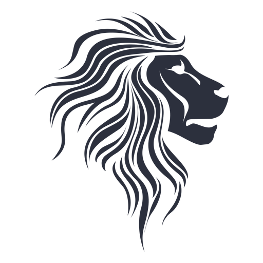 Löwe Silhouette Schnauze Transparent PNG