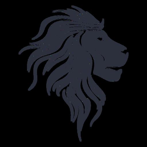Lion silhouette muzzle Transparent PNG
