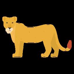Ilustração de leoa