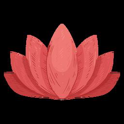 Ilustración de hoja de loto