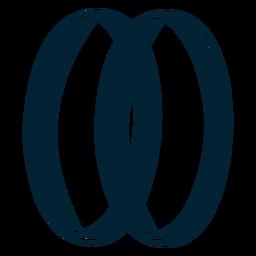 Amor anel silhueta