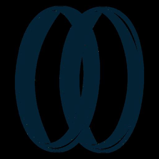 Amor anillo silueta Transparent PNG
