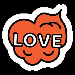 Pegatina de amor