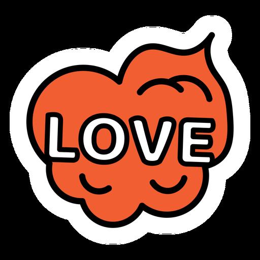 Love sticker Transparent PNG