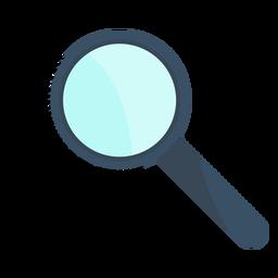 Magnifying glass loupe fingerprint illustration