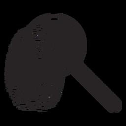 Magnifying glass loupe fingerprint silhouette