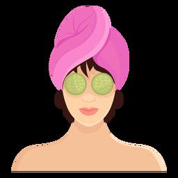 Mascara morena ilustracion