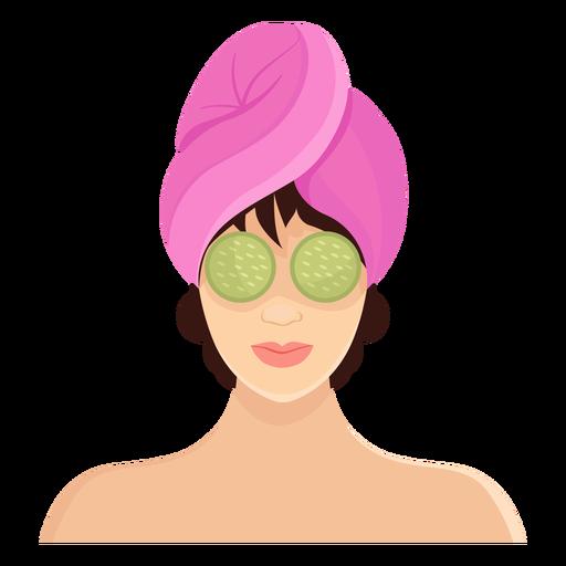 Mascara morena ilustracion Transparent PNG